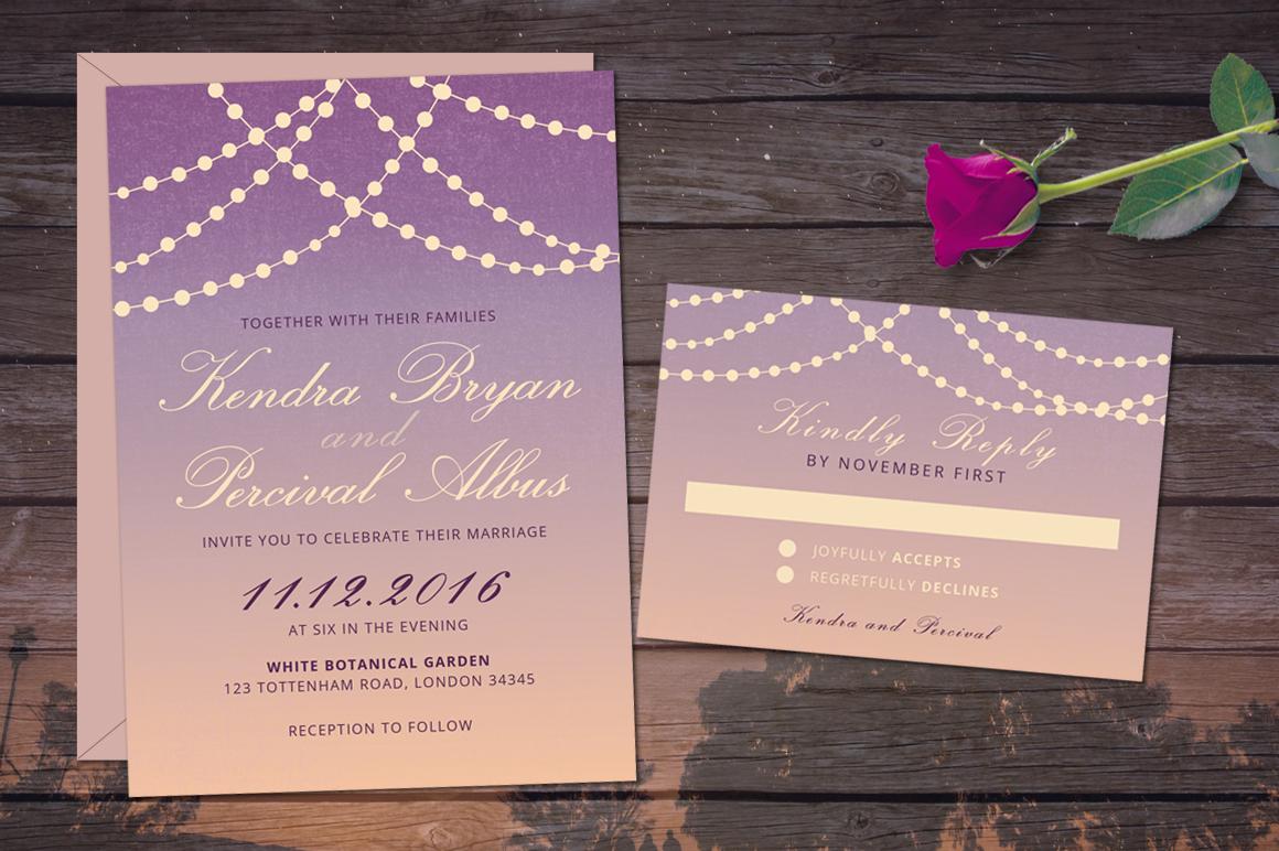 Dusk Wedding Invitation example image 3