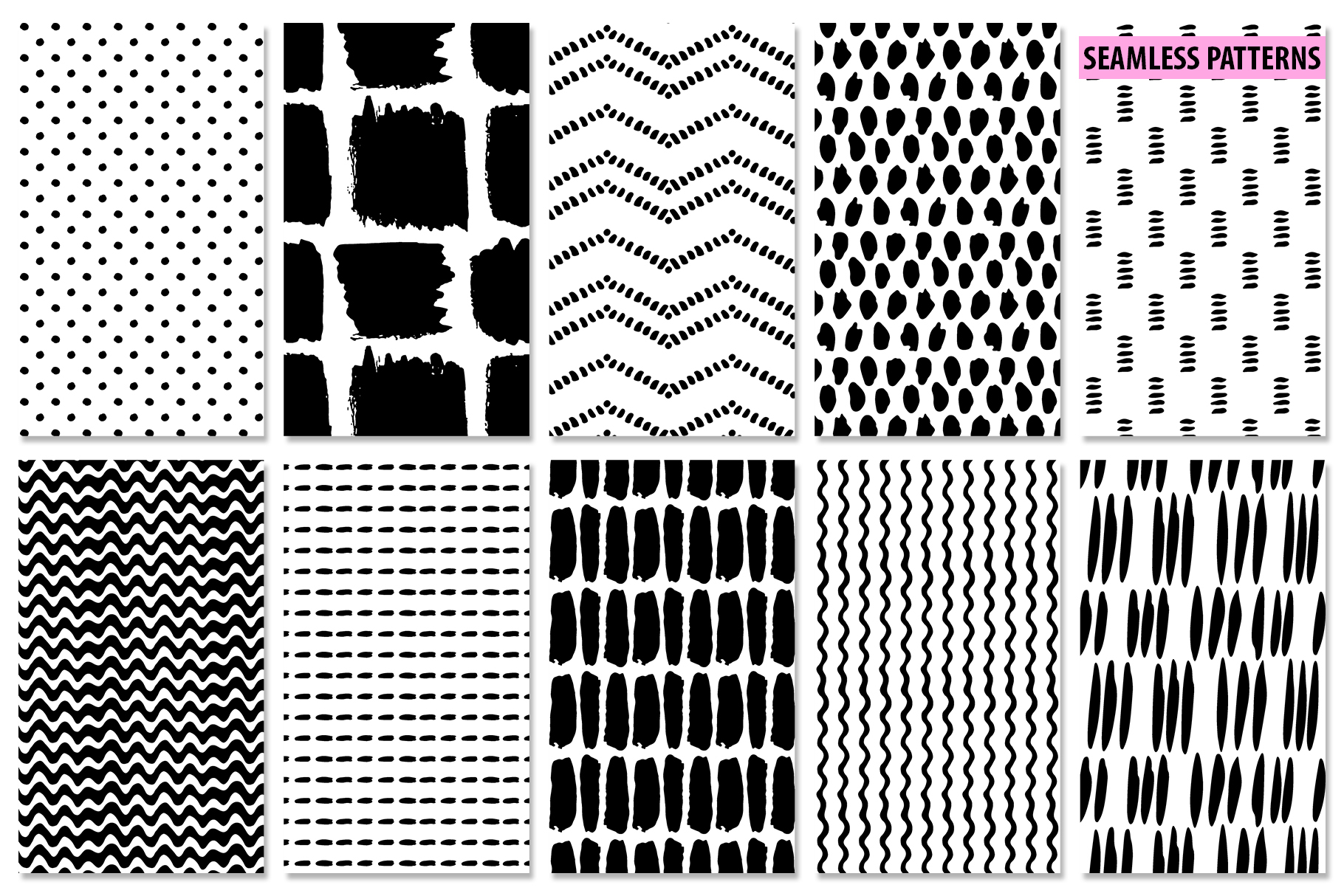 Abstract Brushstroke Ink Patterns, Artboards & Elements example image 11