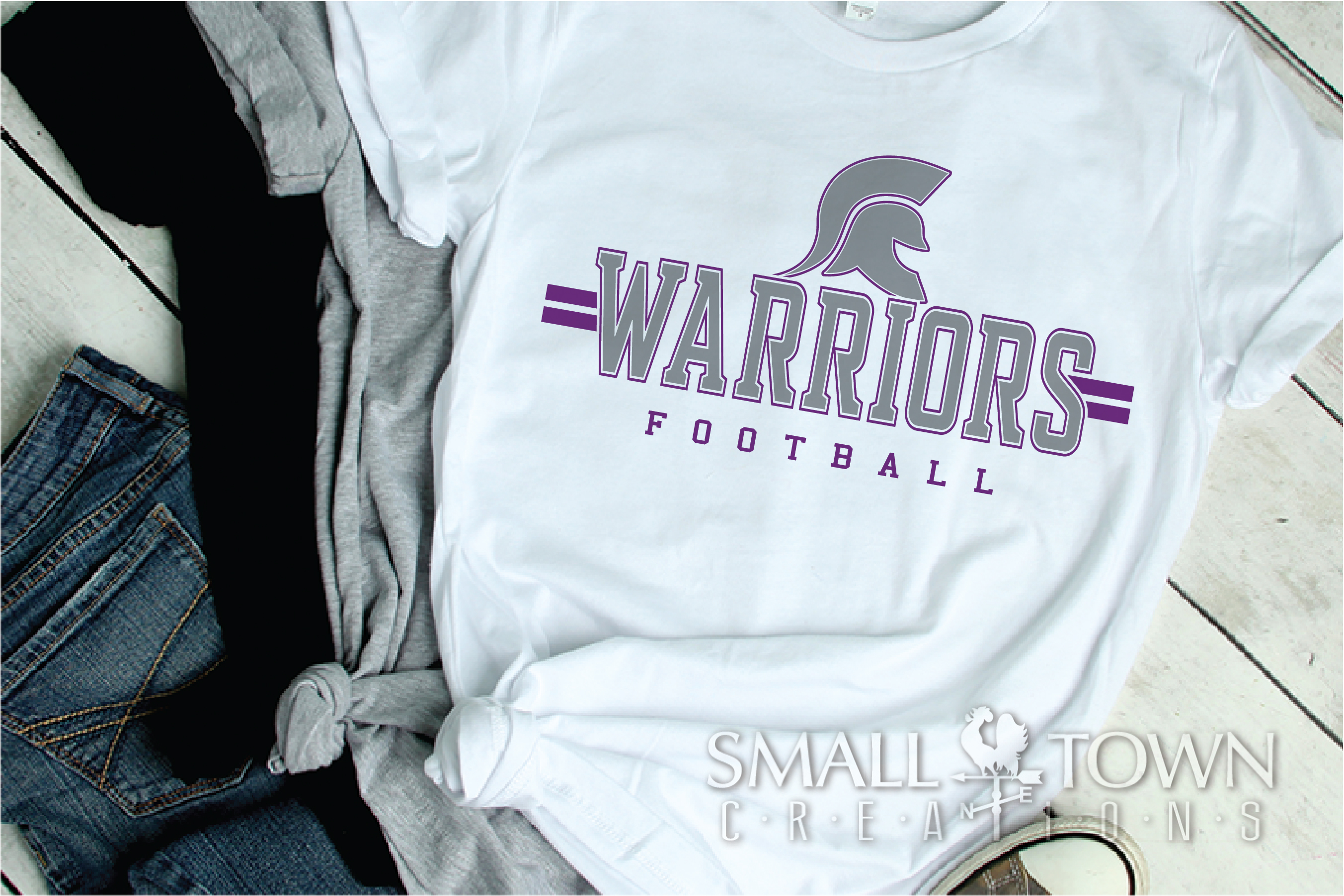 Warrior Football, Team, Sports, Logo, PRINT, CUT & DESIGN example image 2