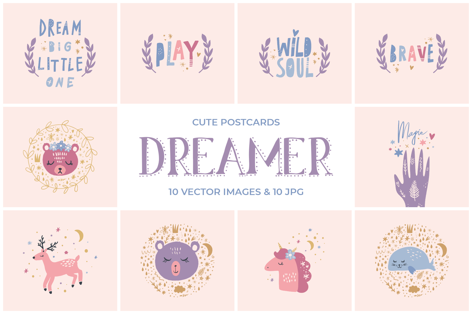 Magical nursery clip art set example image 1