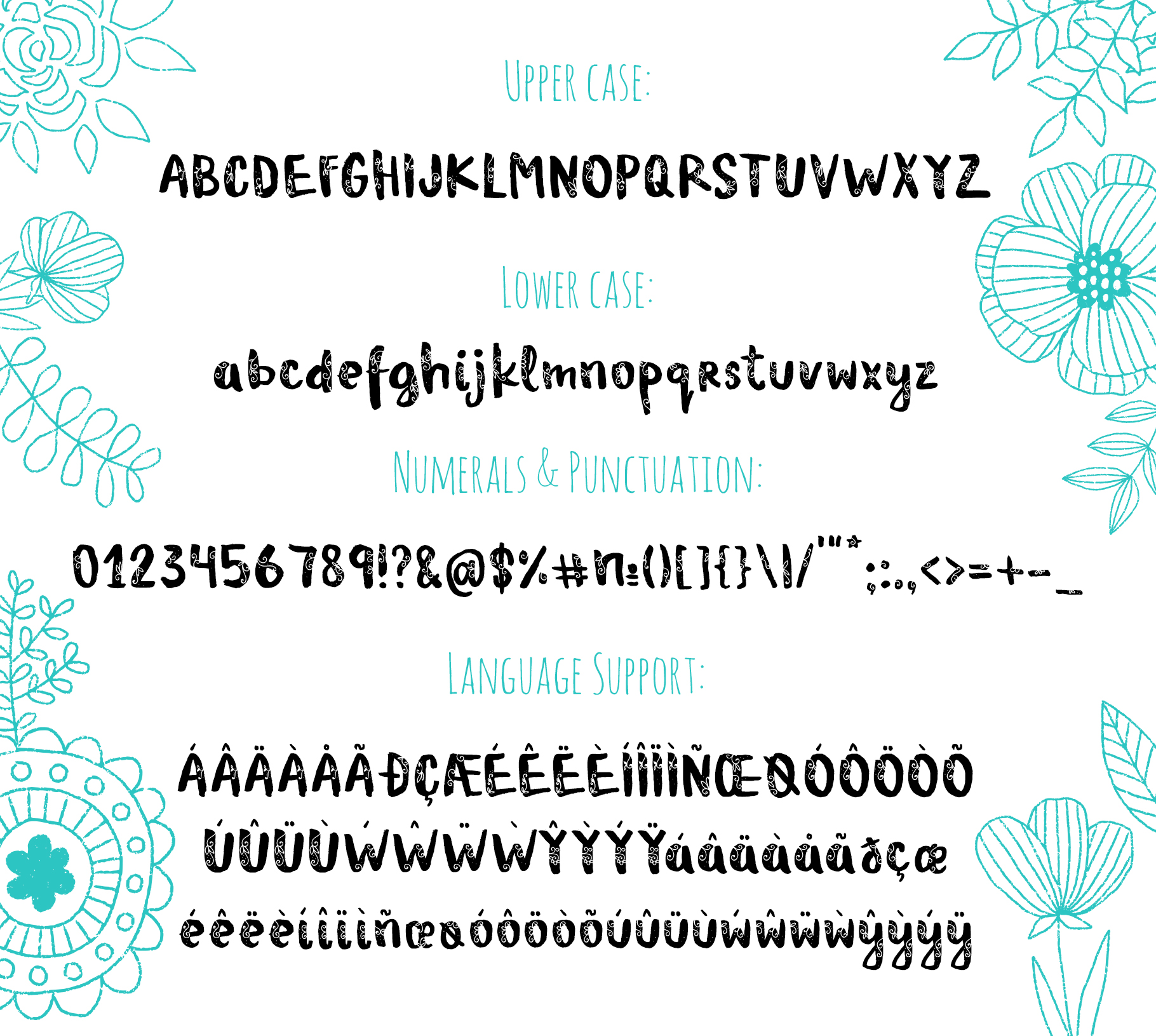 Archie typeface with Clipart example image 5