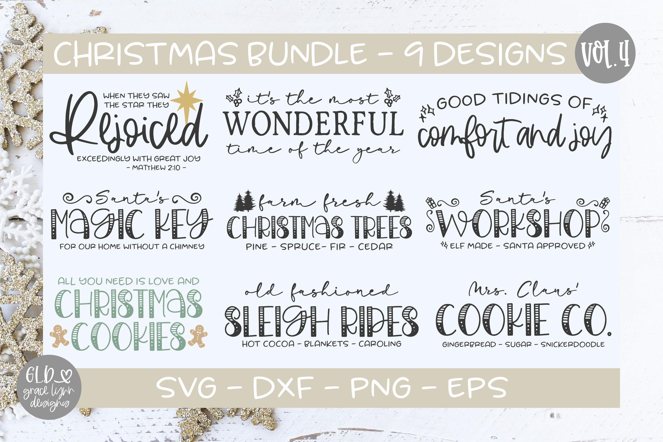 Farmhouse Christmas Bundle - 95 Christmas Designs example image 7