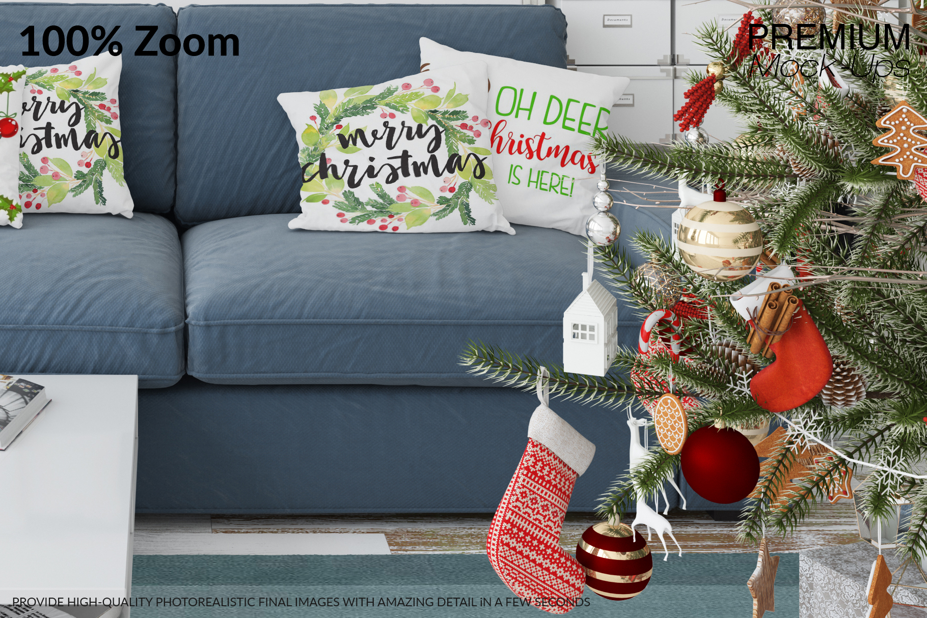 Christmas Living Room Set - Throw Pillows Frames & Wall example image 15