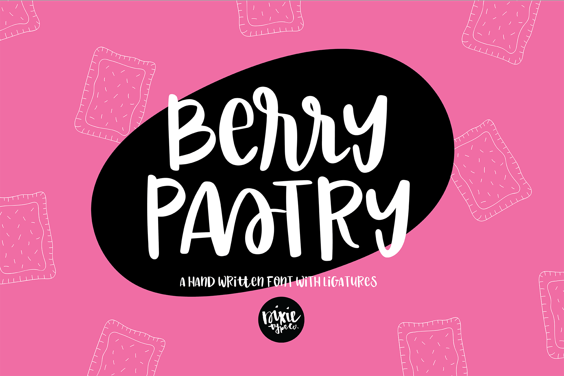 BERRY PASTRY a Hand Lettered Brush Script Font example image 1