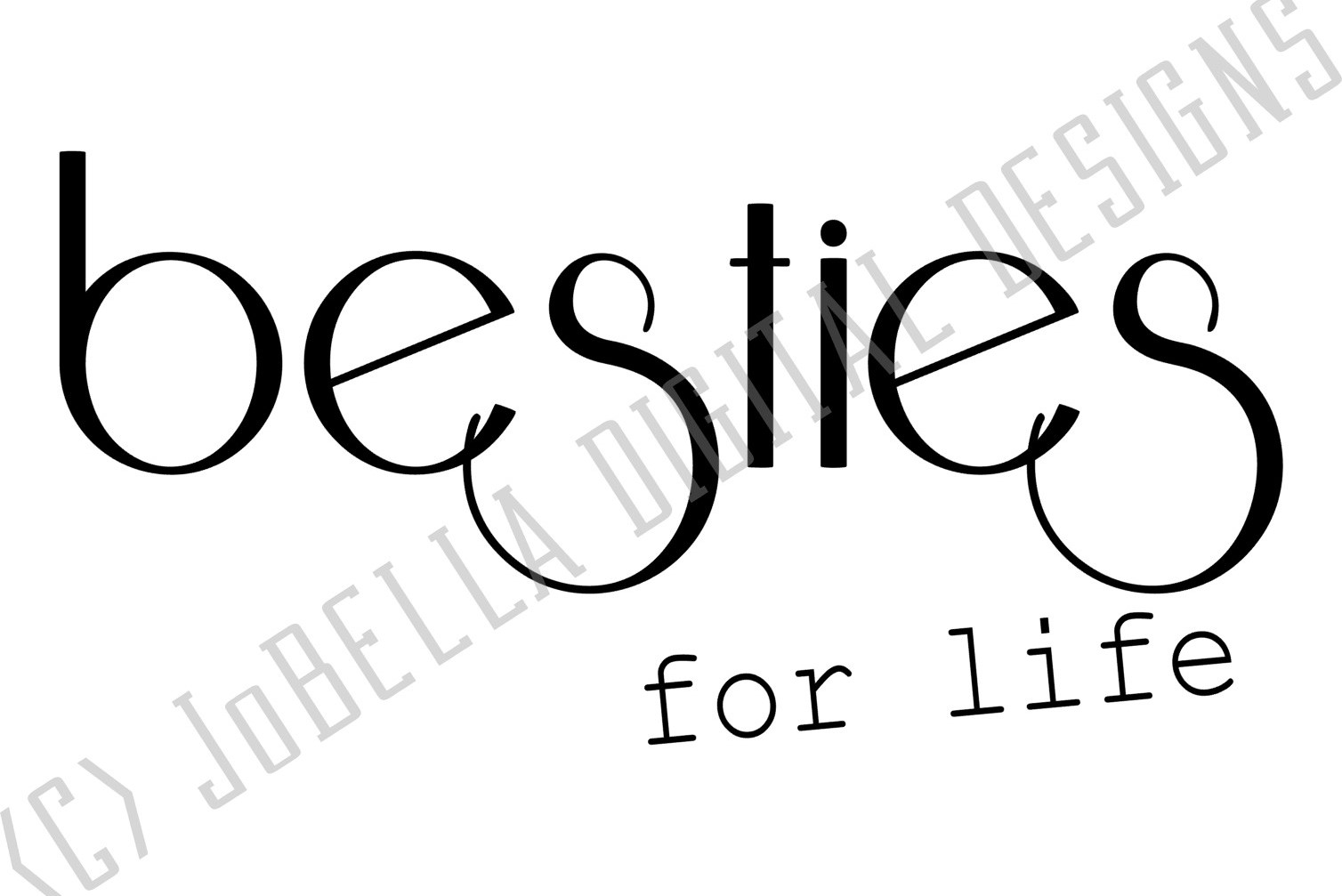 Besties For Life SVG and Printable Friendship Design example image 4