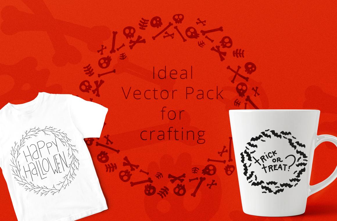 Halloween Wreaths Vector Pack example image 5