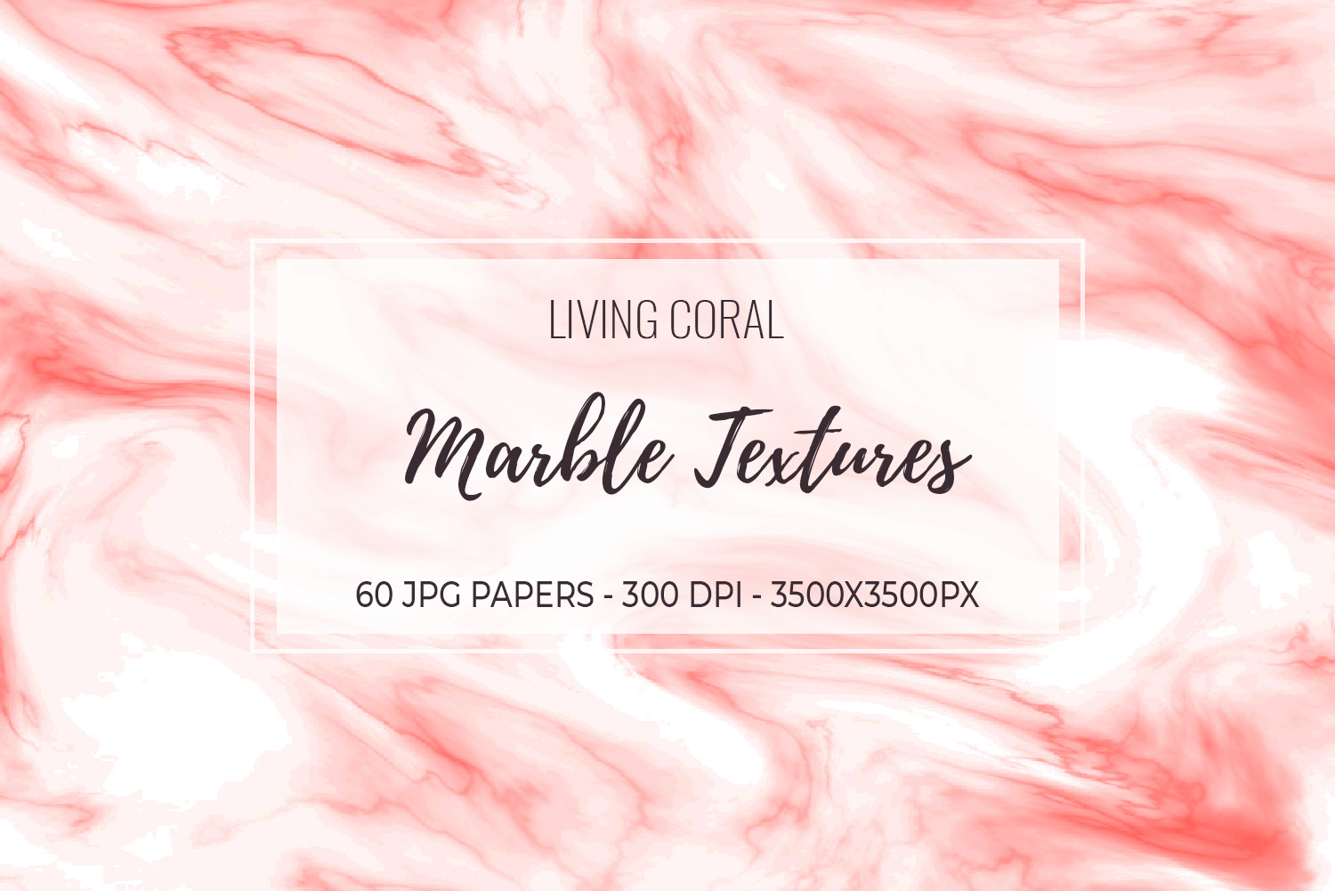 60 Living Coral - Marble Textures - Background Papers JPG example image 9