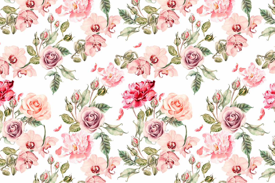Hand Drawn Watercolor PATTERNS example image 8