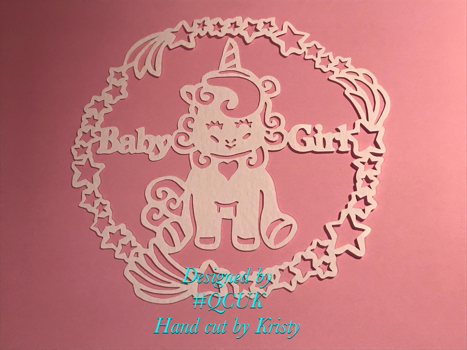 3 x UNICORN Baby Papercutting Templates example image 2