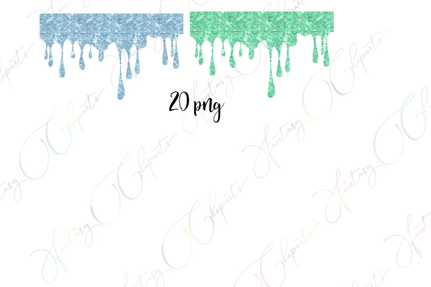 Glitter Drippings Clipart example image 4