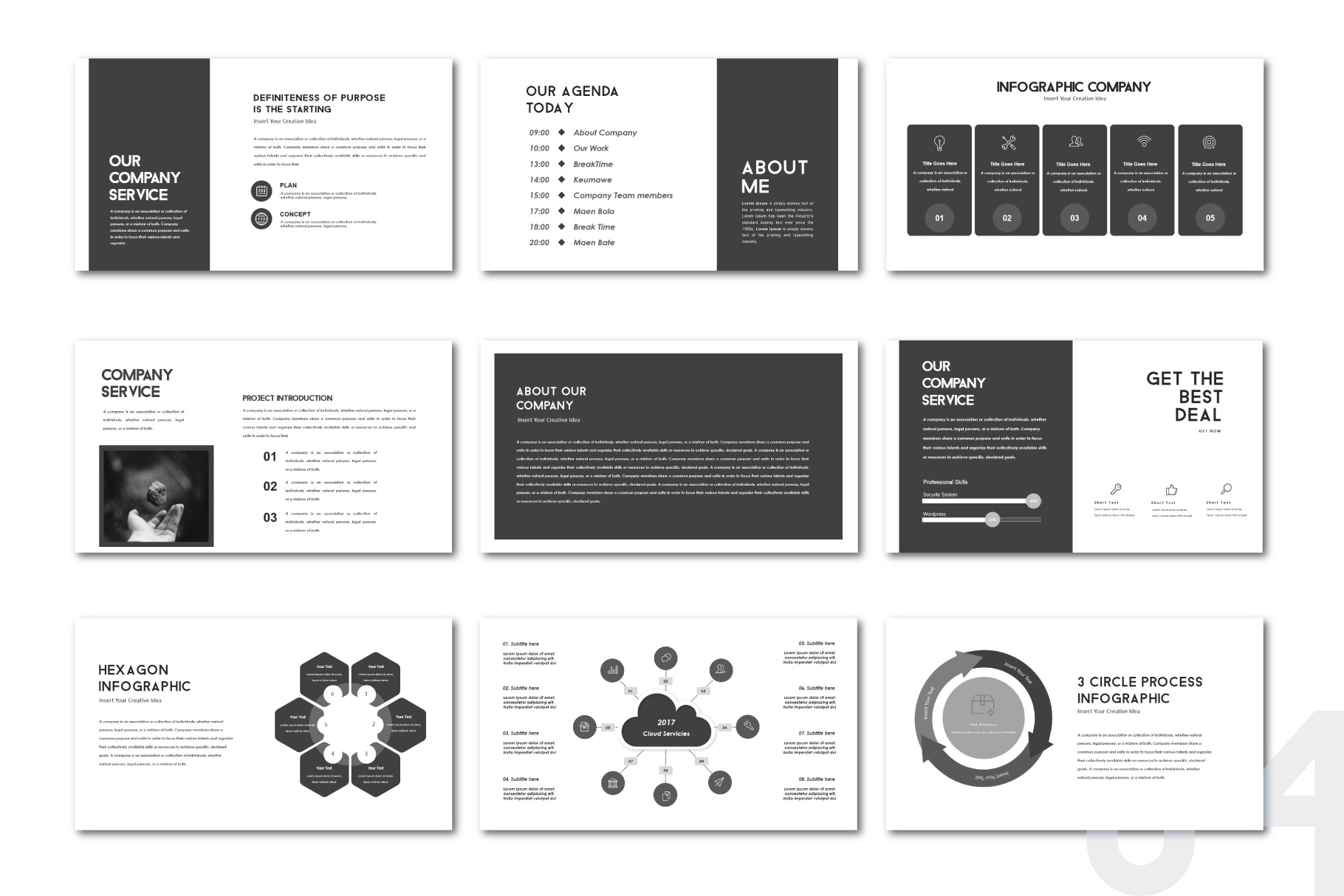 Darkness Multipurpose PowerPoint Templates example image 4
