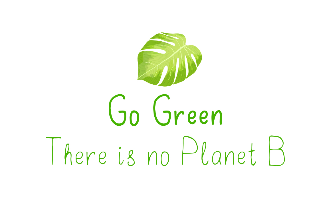 Go Green - handdrawn font example image 6