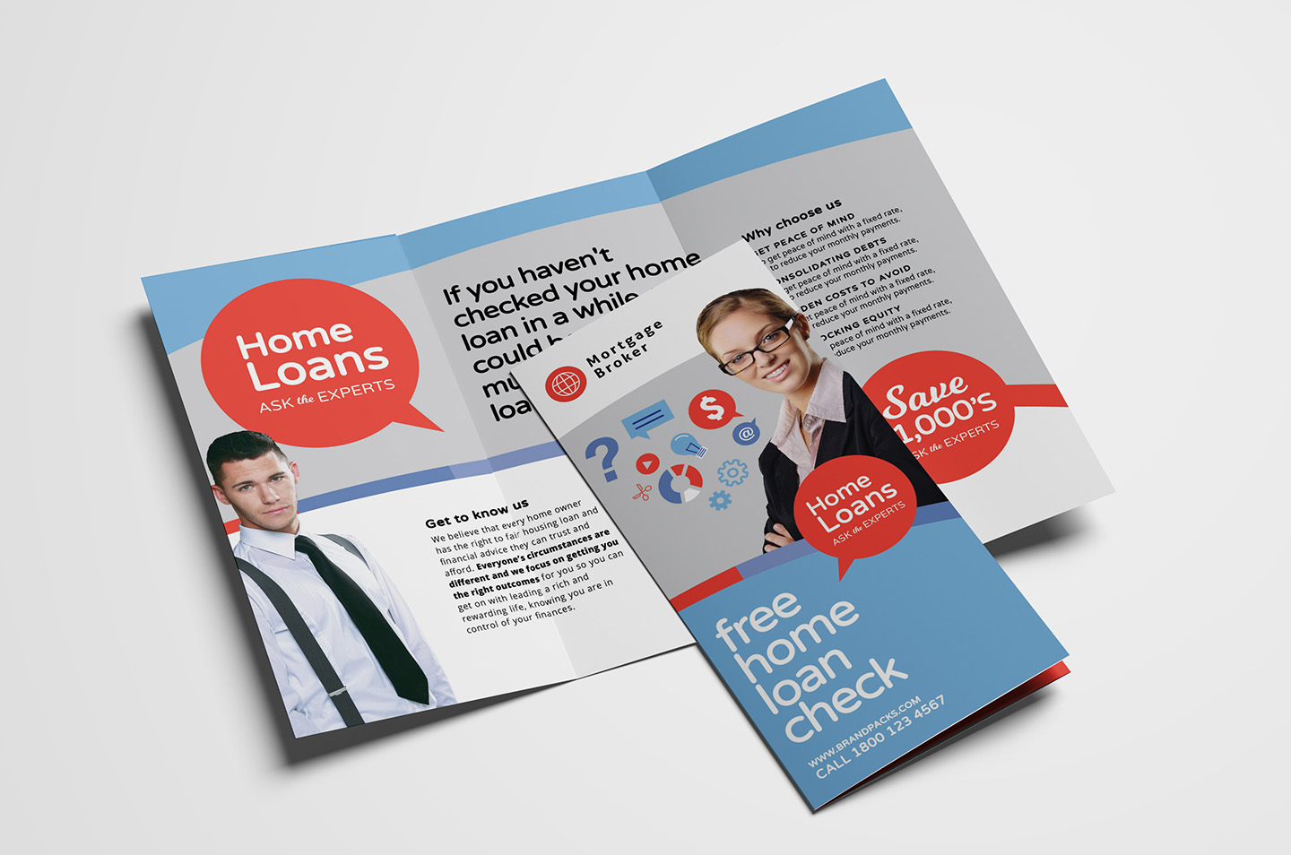 Modern Corporate Tri-Fold Brochure Template example image 1