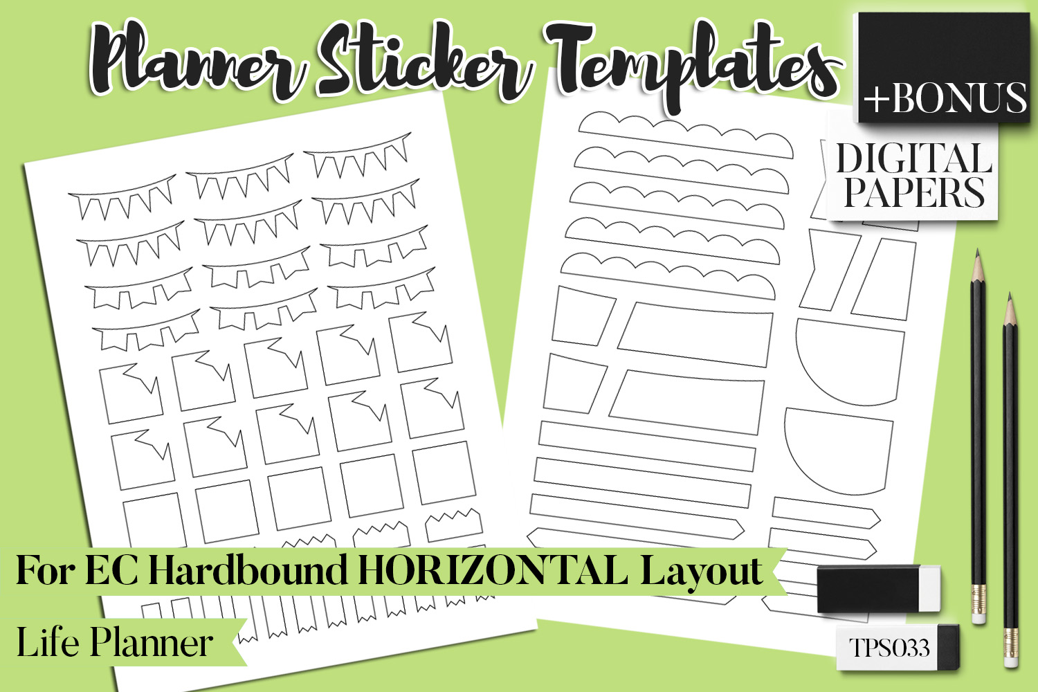 Planner Stickers Templates - Bundle Vol. 11 example image 14