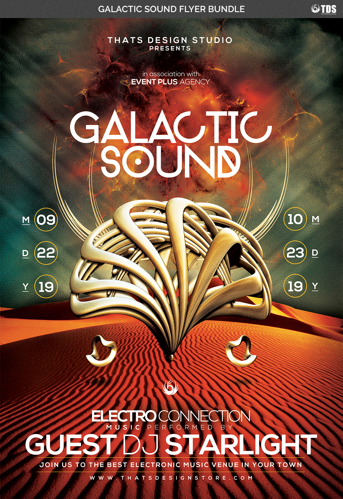 Galactic Sound Flyer Bundle example image 5