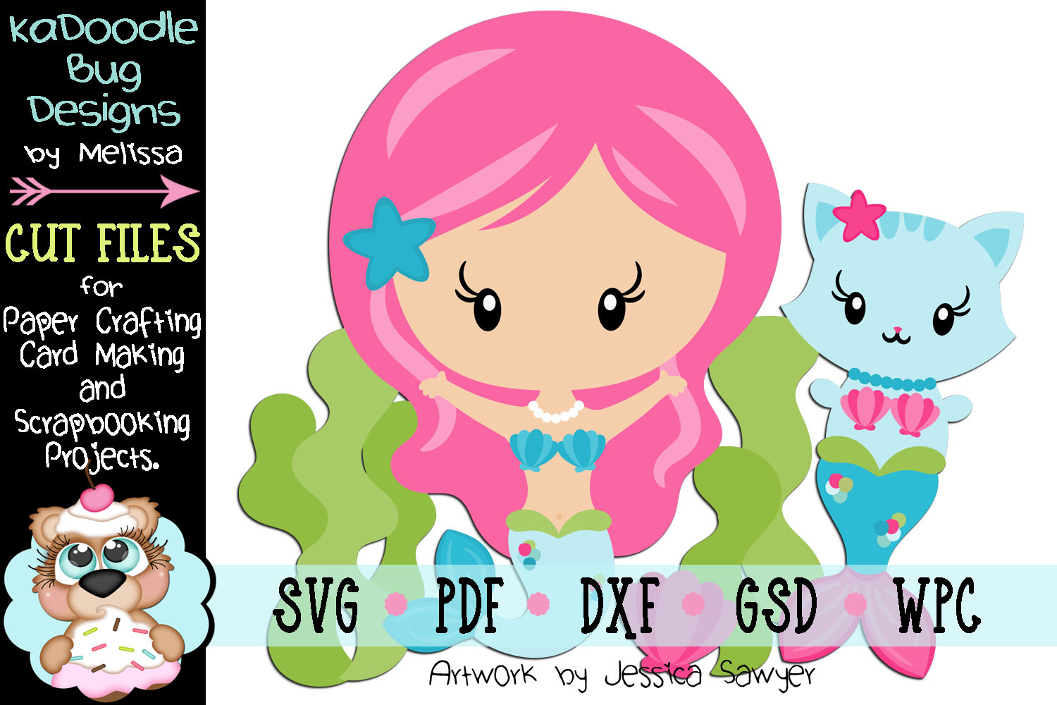 Underwater Friends Cut File - SVG PDF DXF GSD WPC example image 1