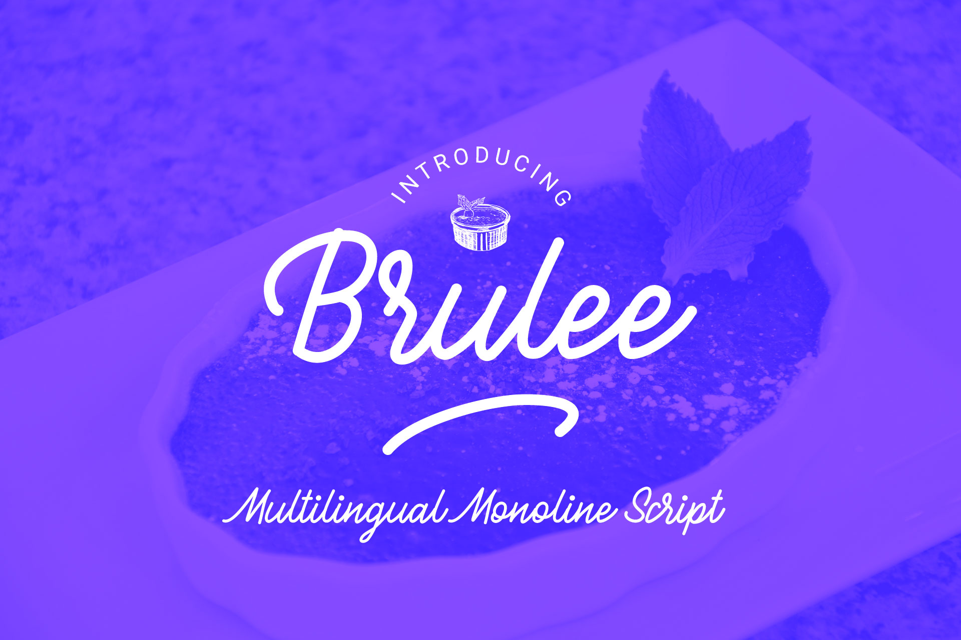 Brulle monoline font example image 1