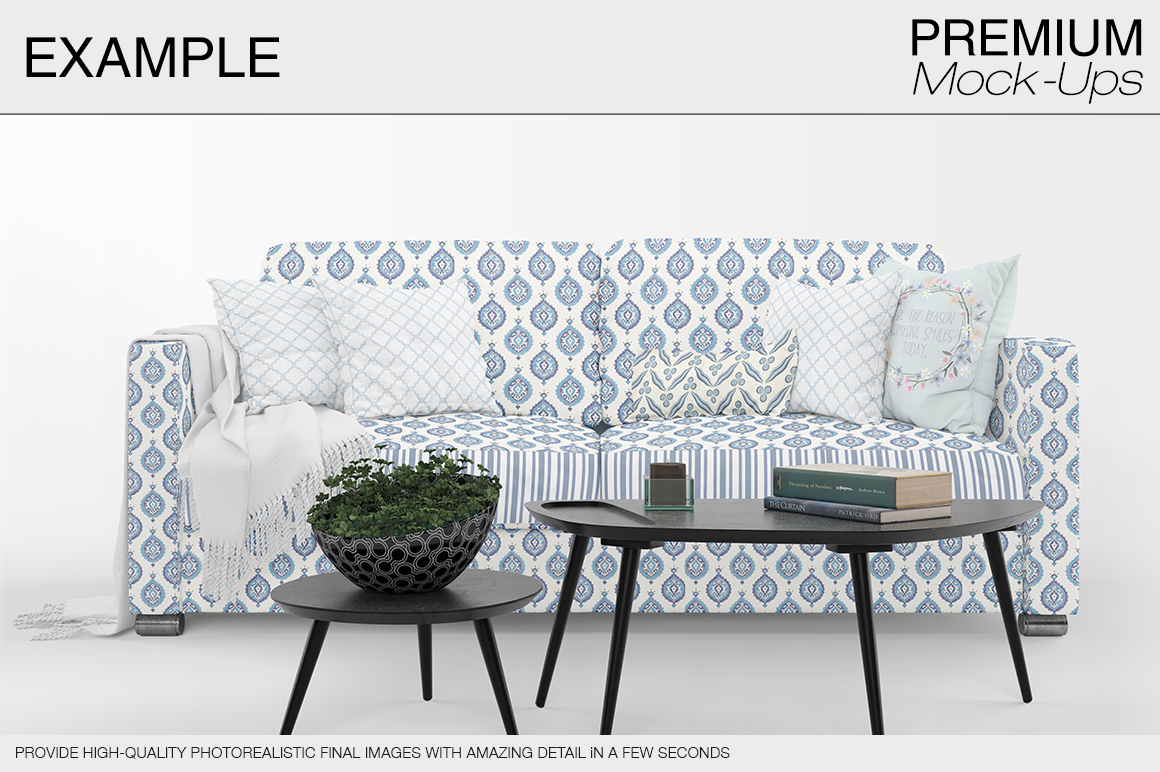 Sofa & Pillows Pack example image 7