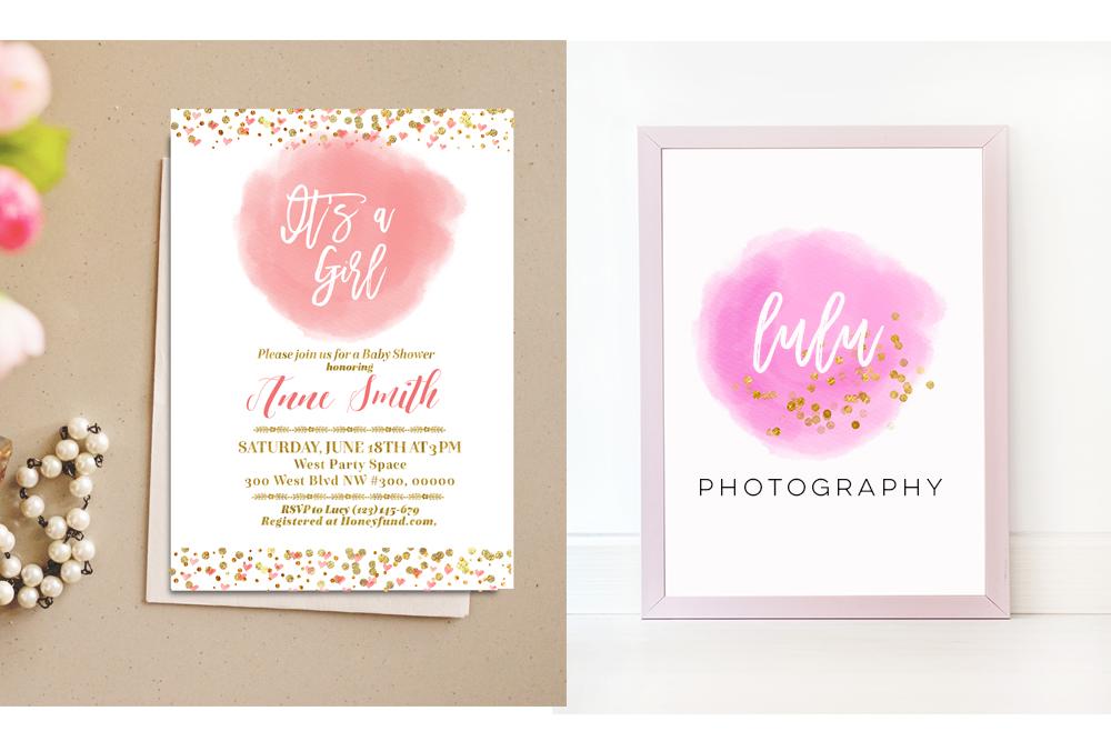 Pink Gold circle brush strokes, Pink Watercolor Rainbow Clipart, Rainbow Digital Paper, Rainbow mint clipart, Watercolor Digital Paper Rainbow Colors example image 5