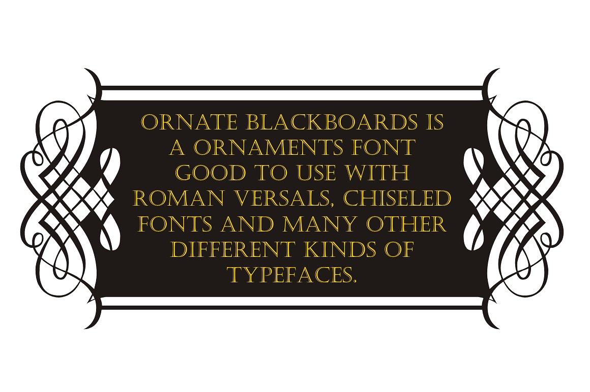 Ornate Blackboards pack example image 2