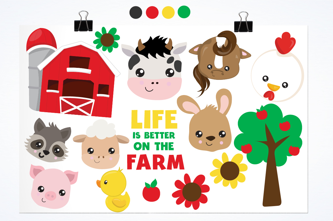 Farm Friends graphics and illustrations example image 2