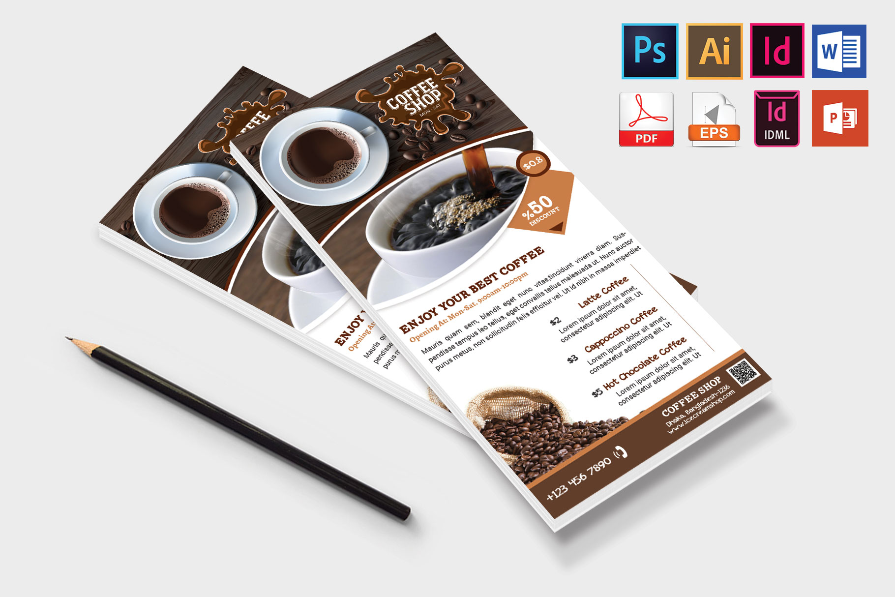 Rack Card | Coffee Shop DL Flyer Vol-01 example image 4