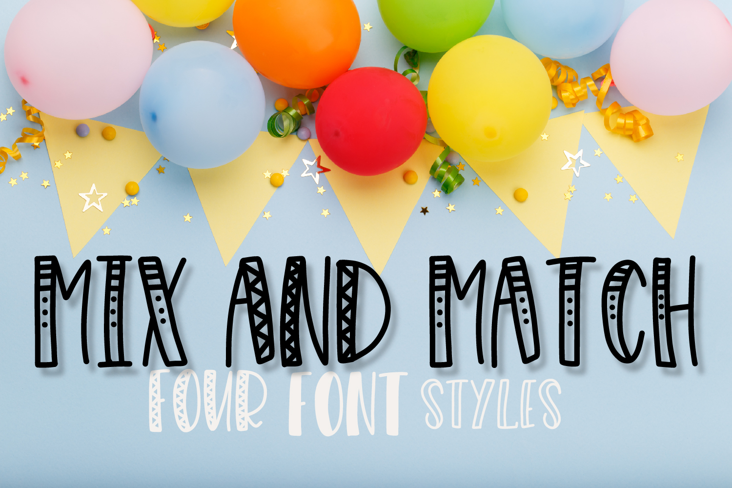 Merrymaking - 4 Styles Font Duo - Handlettered example image 8