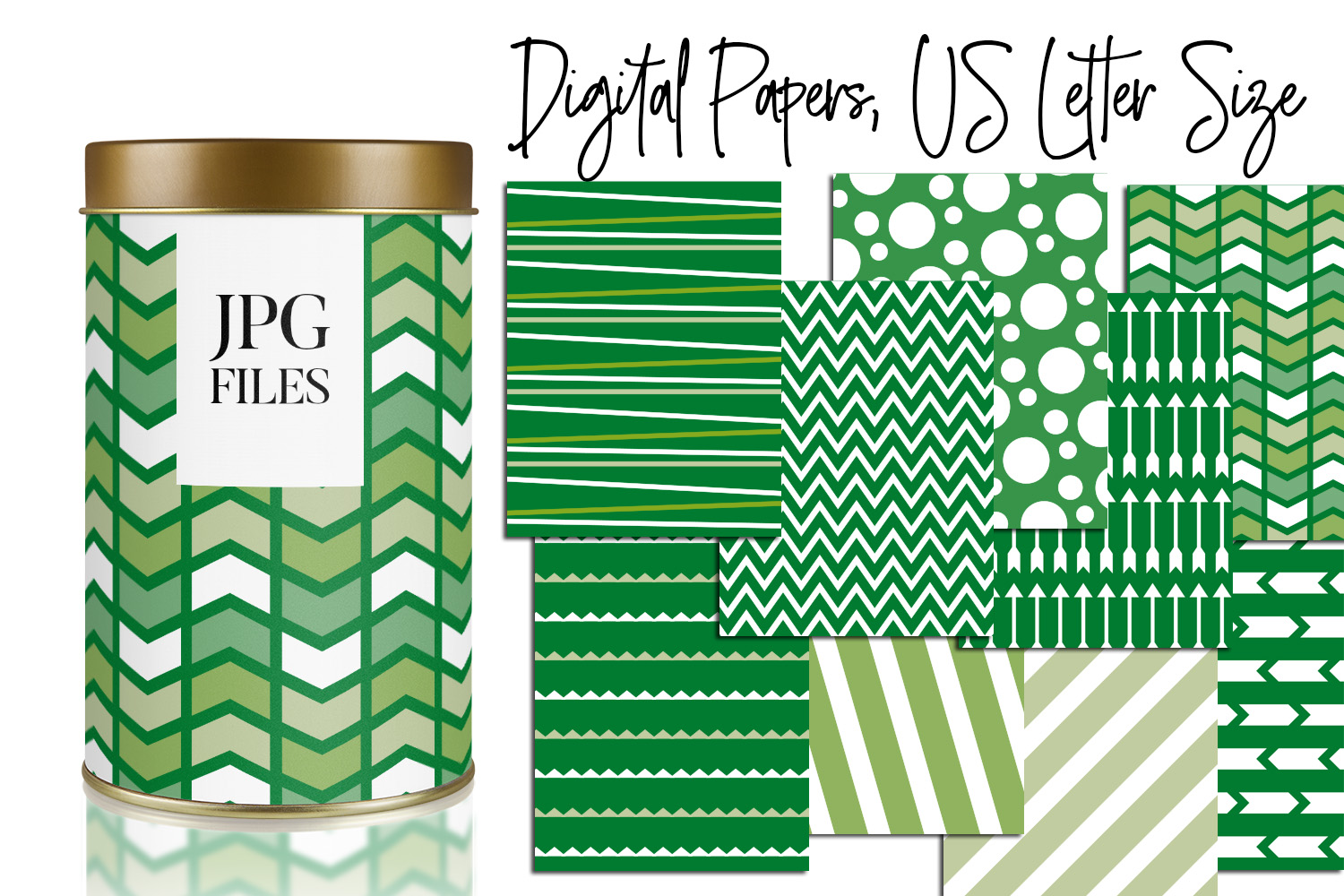 Digital Papers Bundle Vol. 2 - Background Patterns example image 4