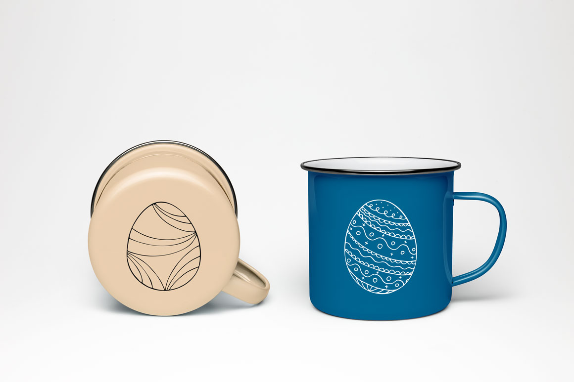 Hand drawn easter eggs-doodle style example image 3
