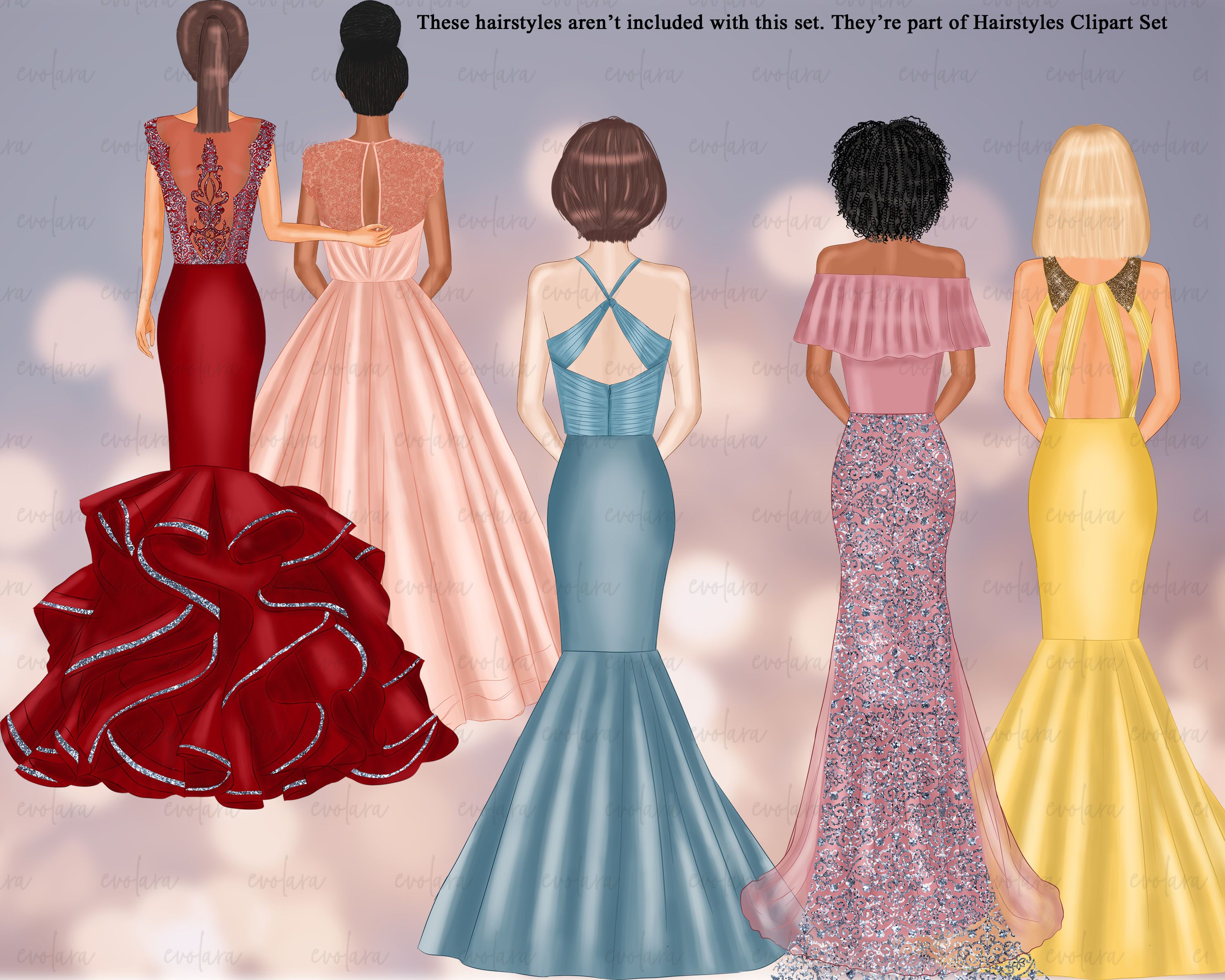 Bride Clipart Bridesmaid Clipart Best Friends Wedding example image 7