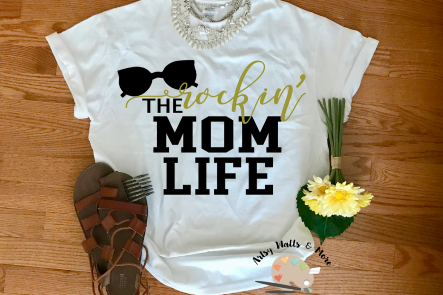 Rockin' the mom Life svg cut file mommy svg New mom svg example image 1
