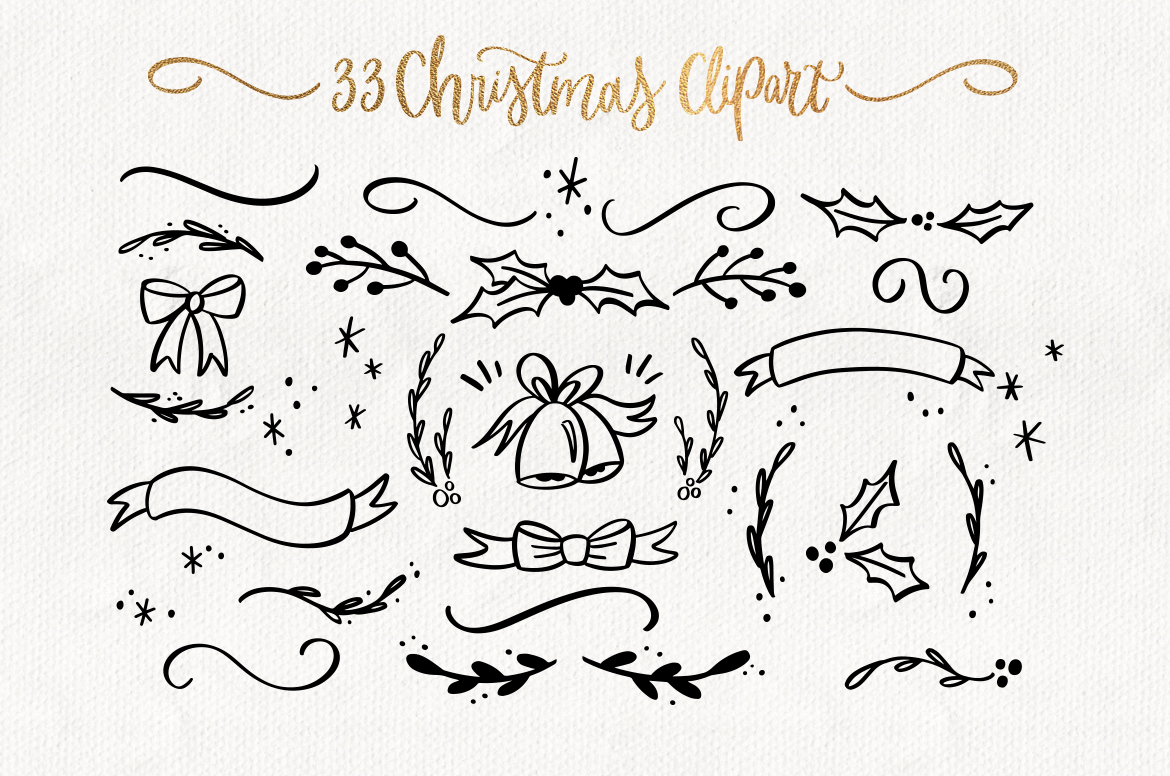 Merry Christmas SVG bundle quotes & clipart example image 5