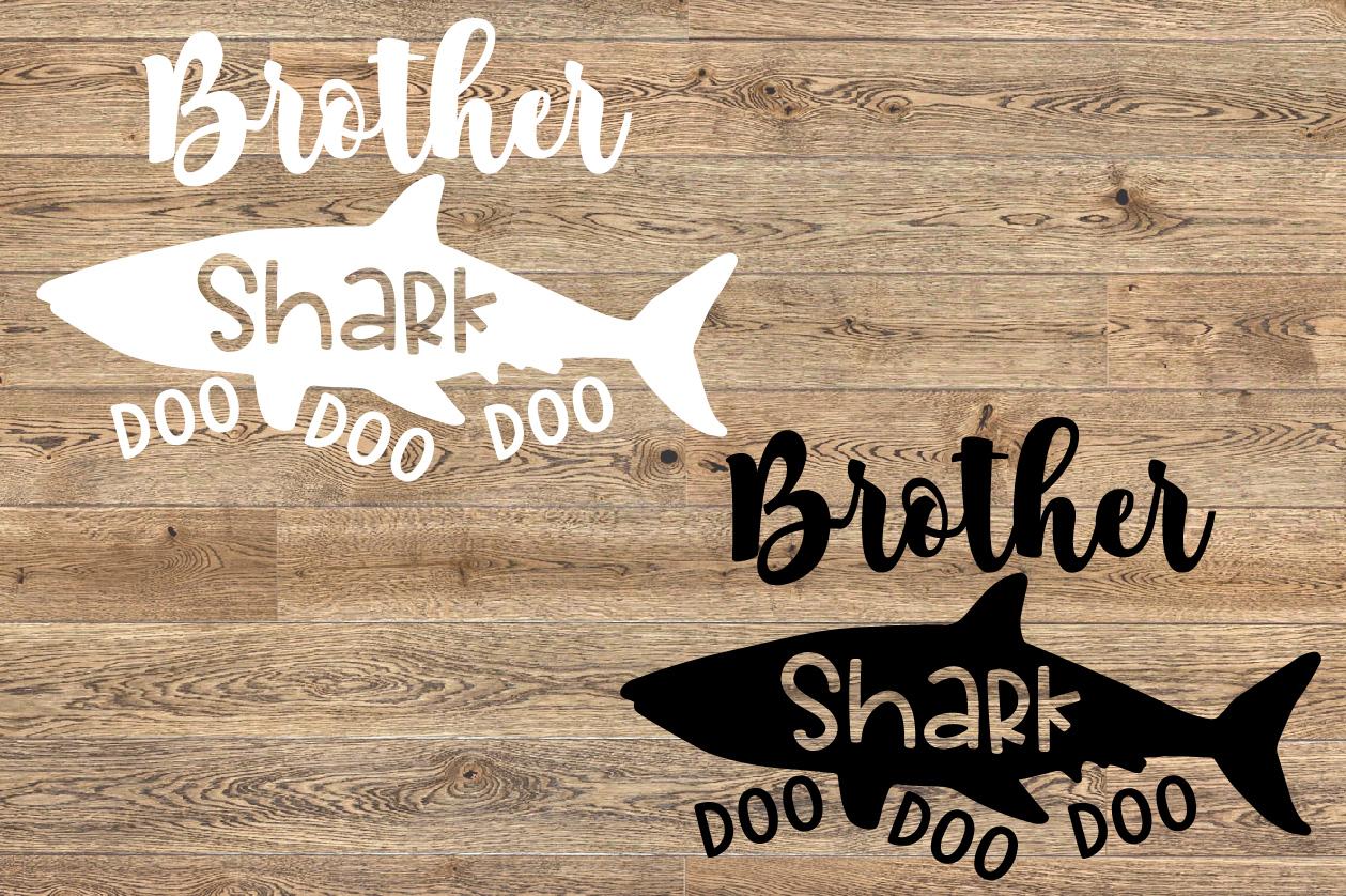 Brother Shark SVG Doo Doo Doo Family Birthday Sea 1305S example image 2