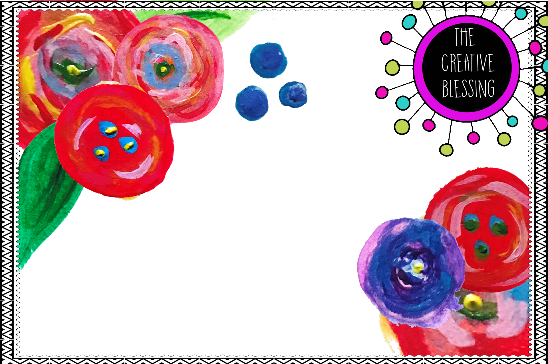 Acrylic / Watercolor Floral Clipart example image 1