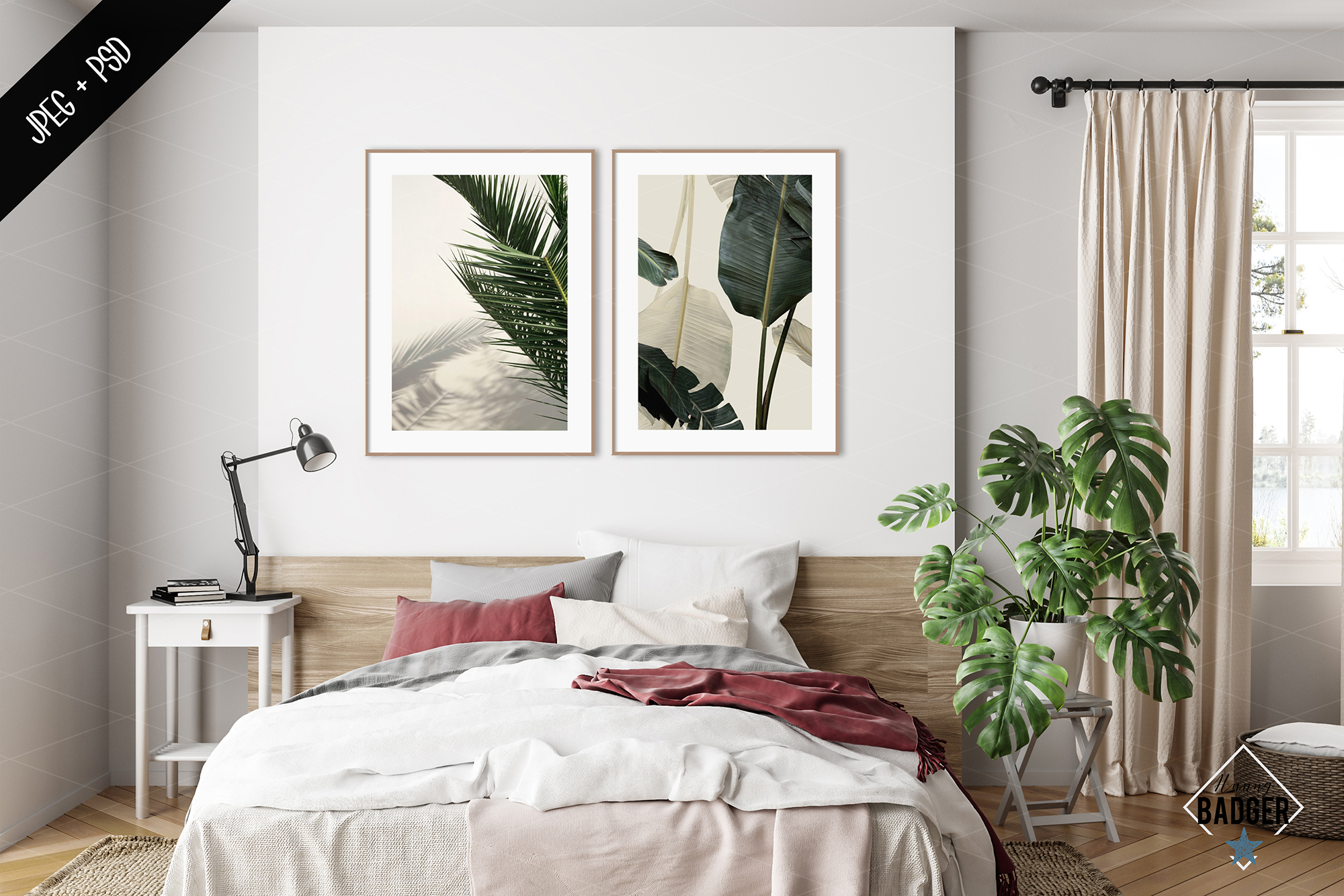 Interior mockup BUNDLE - frame & wall mockup creator example image 10