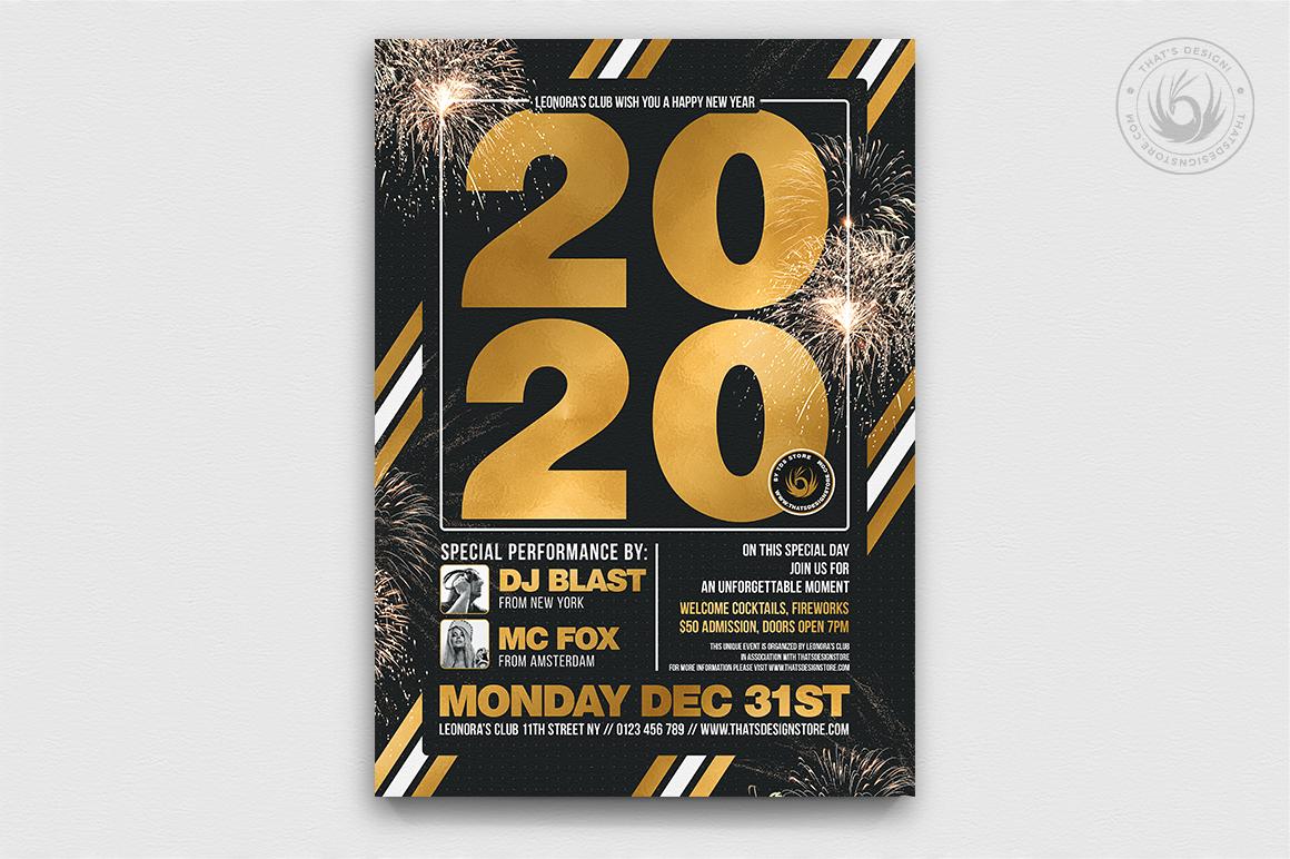 10 New Year Flyer Bundle example image 6