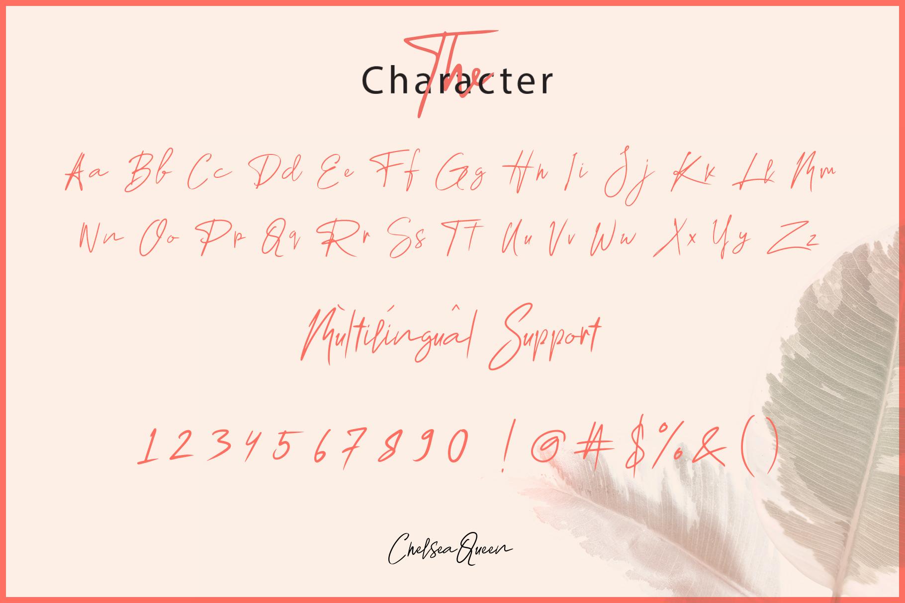 Chelsea Queen || Elegant Signature example image 2