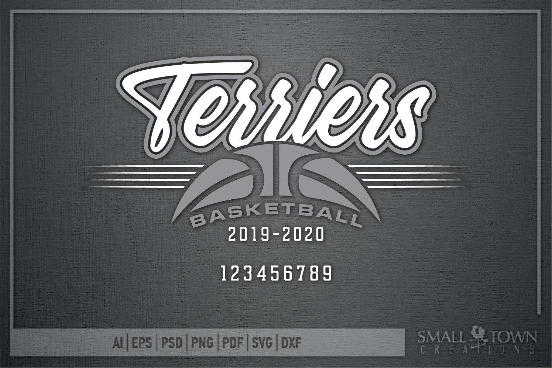 Terrier, Basketball, Sport, Team, Logo, PRINT, CUT, DESIGN example image 4