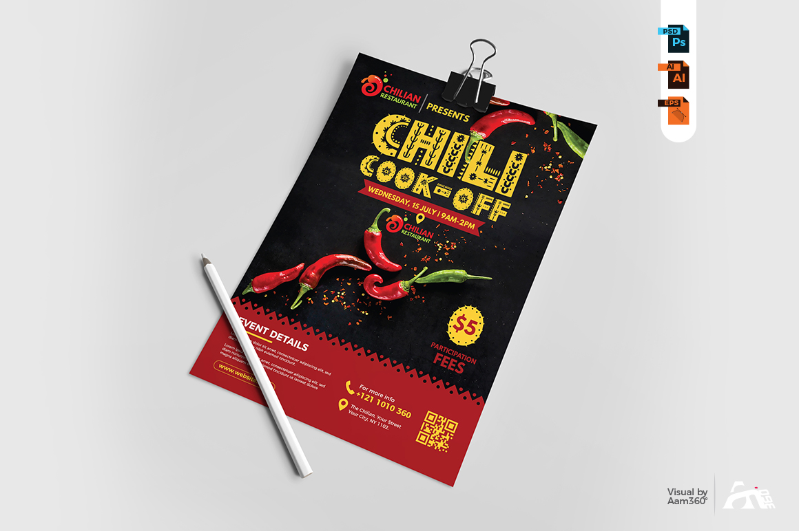 Chili Cook Off Flyer Template example image 3