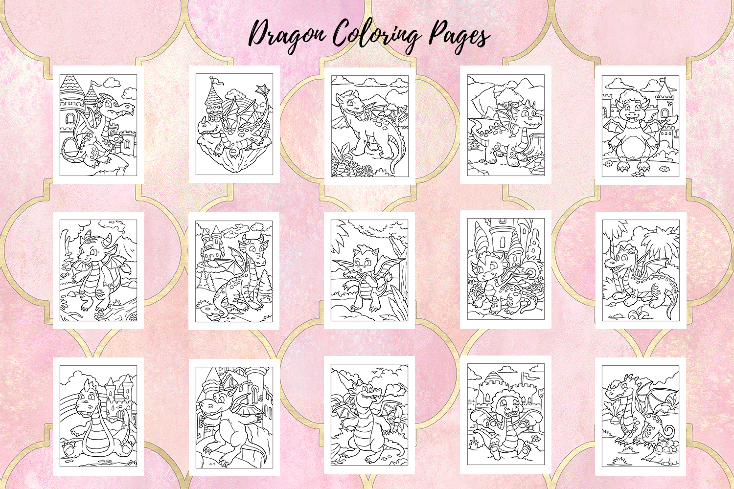 Coloring Pages For Kids - 15 Dragon Coloring Pages example image 2