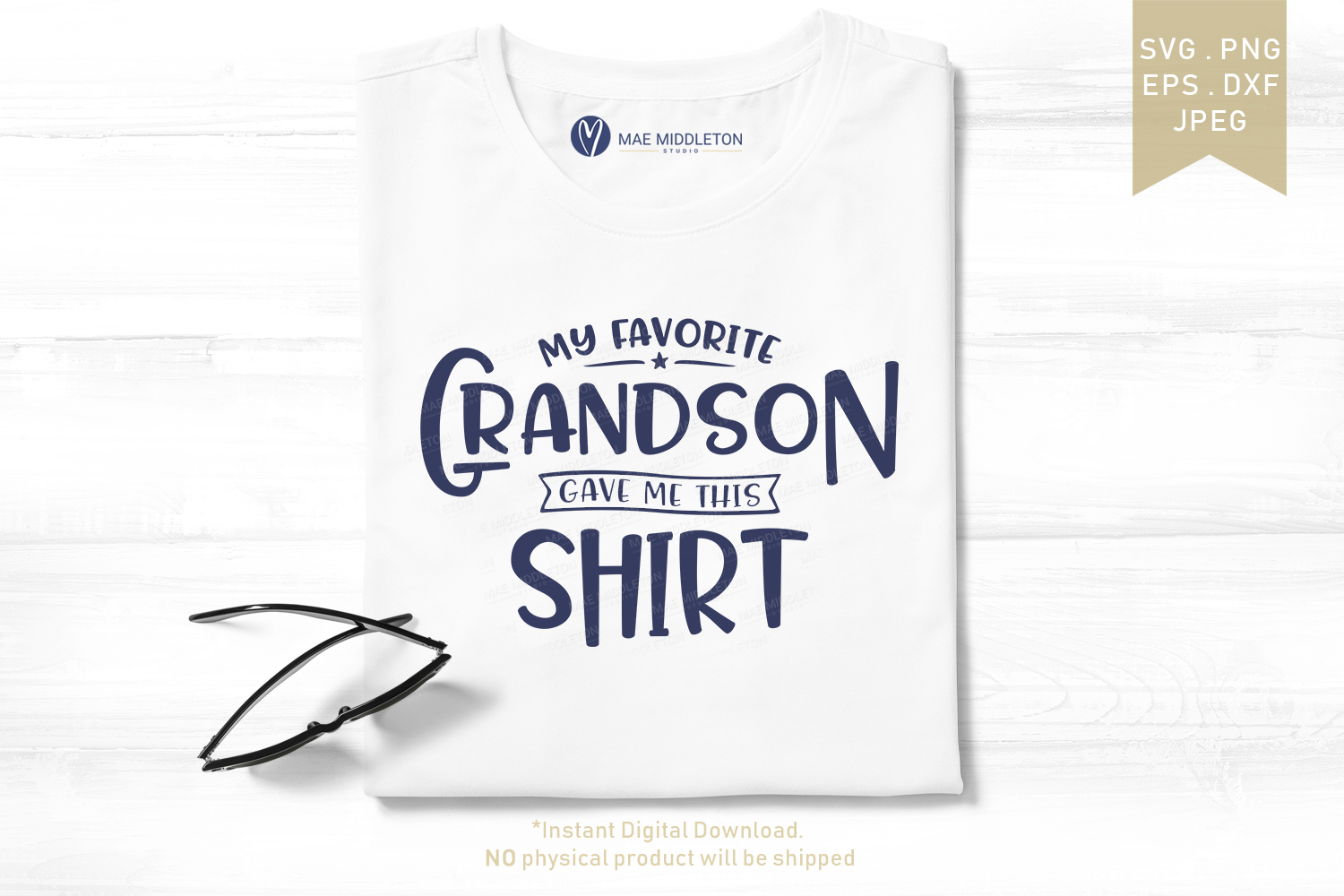 My Favorite... Gave Me This Shirt SVG Bundle example image 3