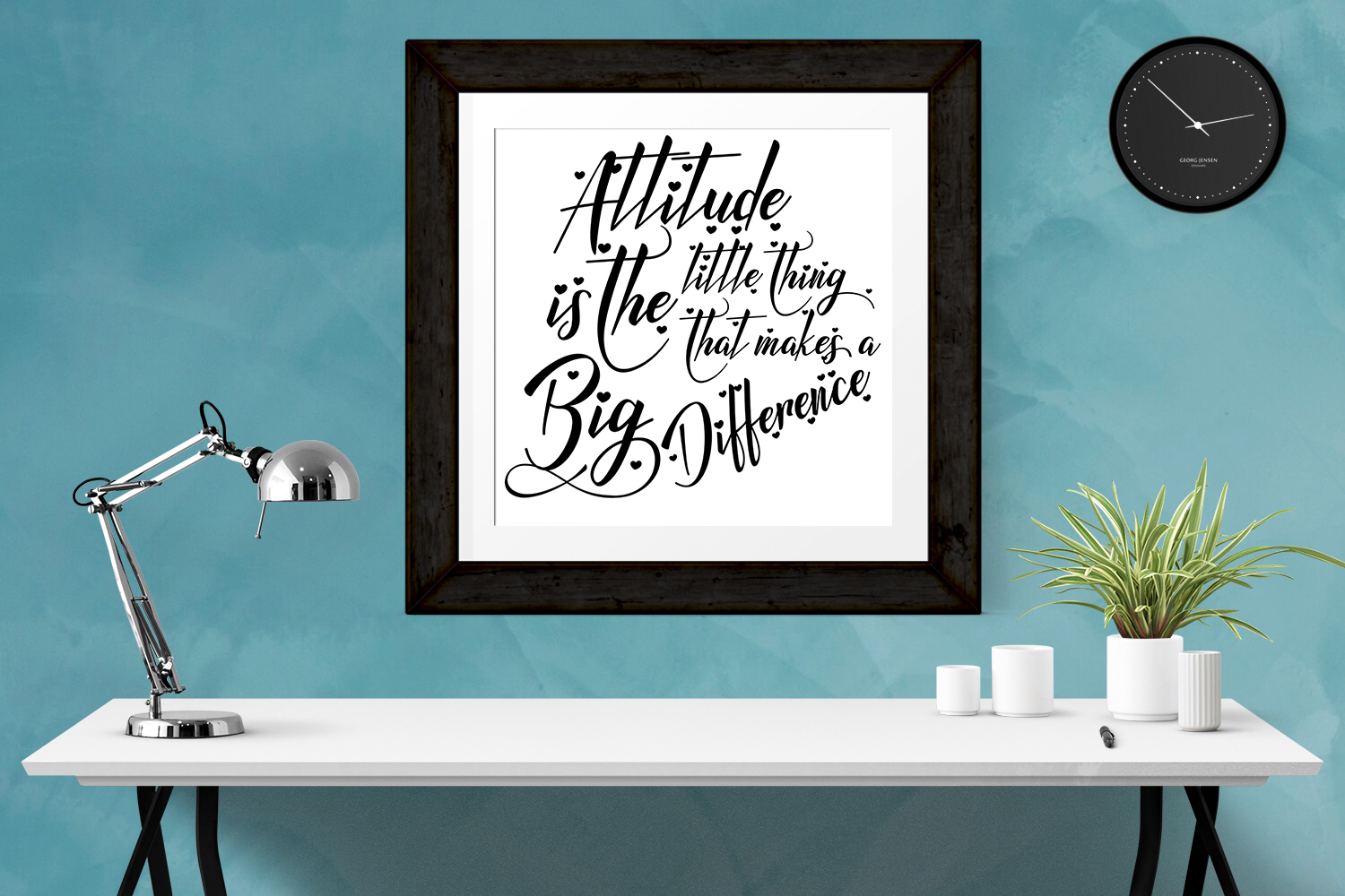 Inspirational Quote - Attitude is the Little Thing that Makes a Big Difference example image 3