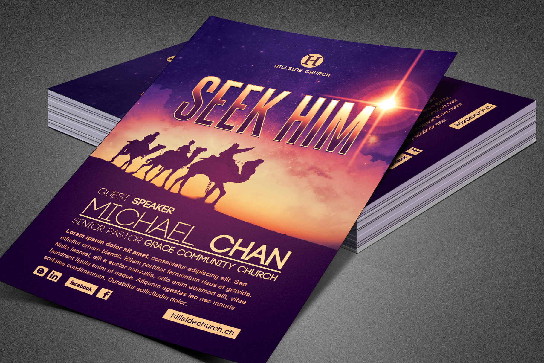 Seek Him Church Flyer Template example image 6