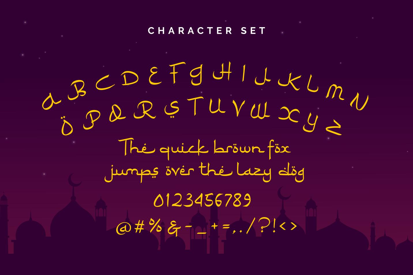 Ramadhan Karim - Arabic Fauxlang Font example image 2