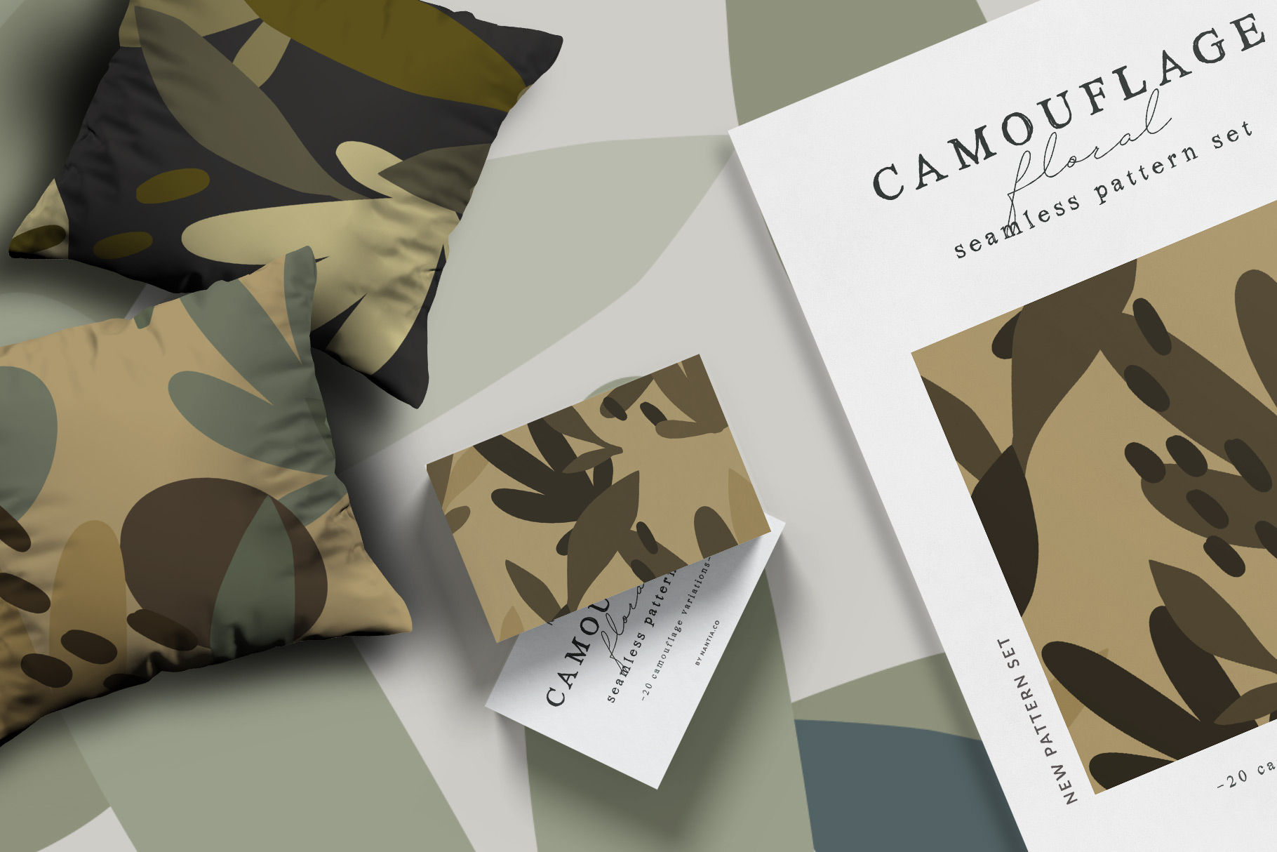Camouflage Floral Pattern Set example image 2