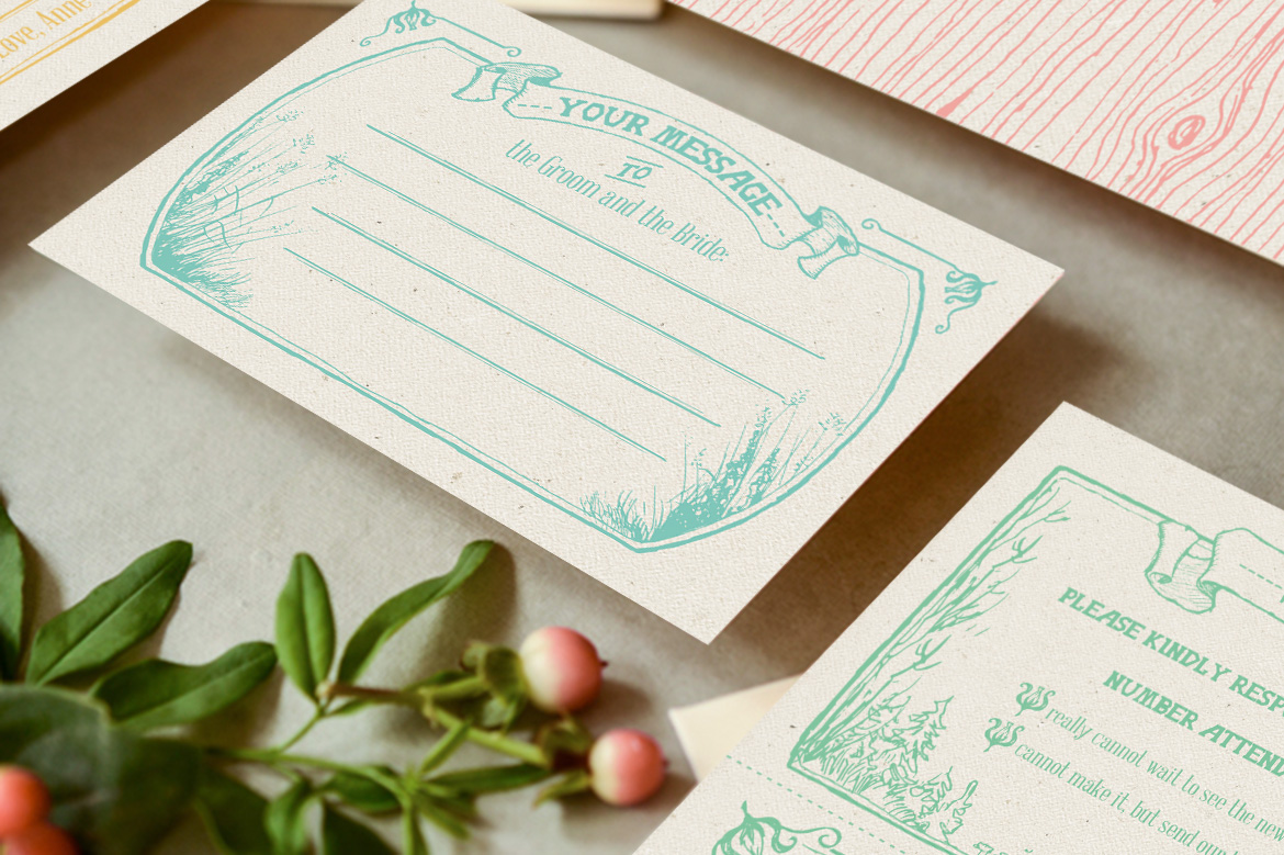 Whimsical Forest Wedding Invitation Suite example image 2