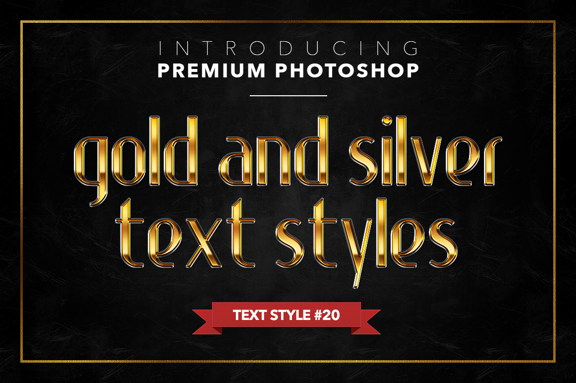 Gold & Silver #1 - 20 Text Styles example image 5
