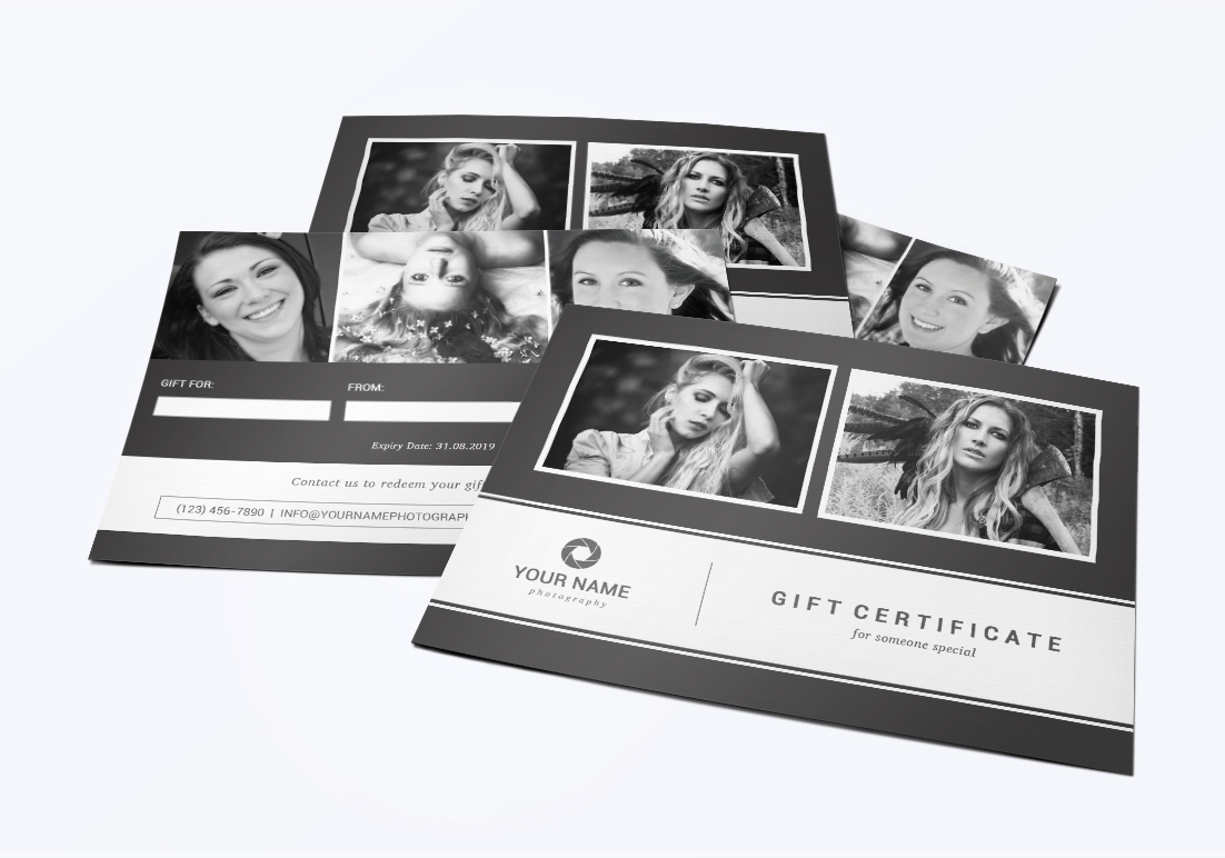 Photography Gift Certificate Template example image 1