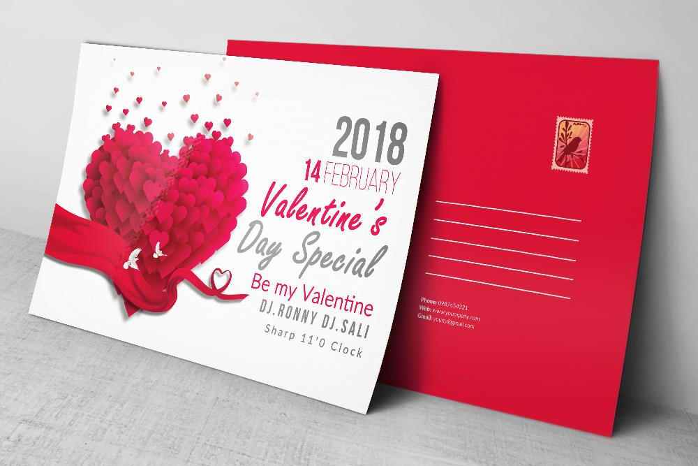 Valentine's Love Day Postcards example image 2