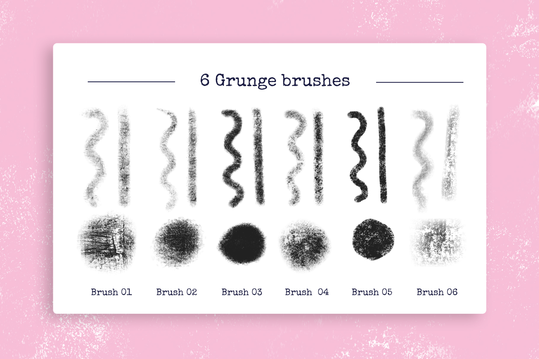 Grunge Procreate Brushes example image 2